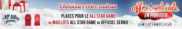 Offre spéciale Noël - Basket Europe, choisissez votre cadeau