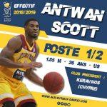 Pro B : Arrivée du combo Antwan Scott à Evreux
