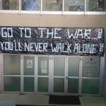 «Go To the War…» Le slogan que les Ultras Green ont affiché à l'entrée des joueurs de Limoges pour ce soir