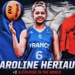 """Caroline Hériaud, n°1 au ranking mondial 3×3: """"Mon objectif c'est de faire les Jeux de Tokyo"""""""