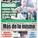 La retraite de Manu Ginobili à la Une de la presse en Argentine