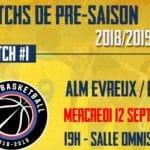 Pro B : suivez le match de préparation entre Evreux et Paris sur LNB TV