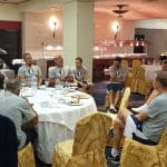 La photo: Le briefing du staff des Bleus avant Bulgarie-France