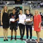 La photo: Les trois championnes WNBA honorées à l'Open