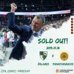 Euroleague : quasiment un mois avant sa date, le match Kaunas – Panathinaïkos est déjà à guichets fermés