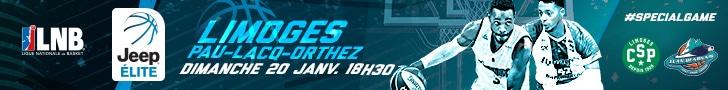 CSP Limoges VS Pau-Lacq-Orthez dimanche 20 janvier 2019