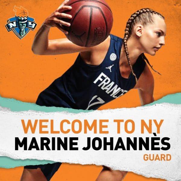 wnba marine johann s a sign avec le new york liberty basket europe. Black Bedroom Furniture Sets. Home Design Ideas