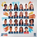 Equipe de France: Iliana Rupert, Marine Fauthoux, Ornella Bankole et Magali Mendy avec les 19 pré-sélectionnées