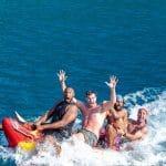 La photo: Quand Boris Diaw fait le fou sur l'eau avec ses potes