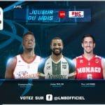 Jeep®ÉLITE : joueur du mois d'avril, Youssoupha Fall, Jordan Taylor et Paul Lacombe nommés