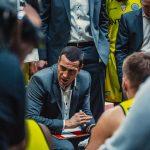 Allemagne: Le coach de Anvers, Roel Moors, à Bamberg