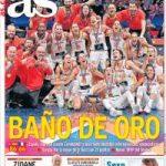 Impressionnant ! Le triomphe des basketteuses à la Une des journaux espagnols