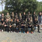 La photo: Les Manceaux en tenue de camouflage