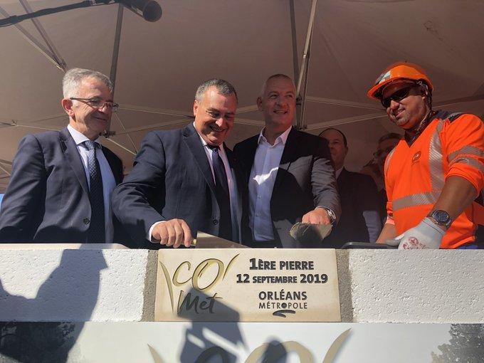 Orléans: La première pierre d'une aréna de 10 000 places a été posée