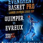 Pro B: L'UJAP Quimper va jouer un nouveau match à la Brest Arena