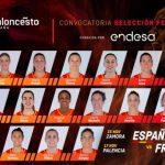 Féminines: Les 16 Espagnoles pour affronter la France