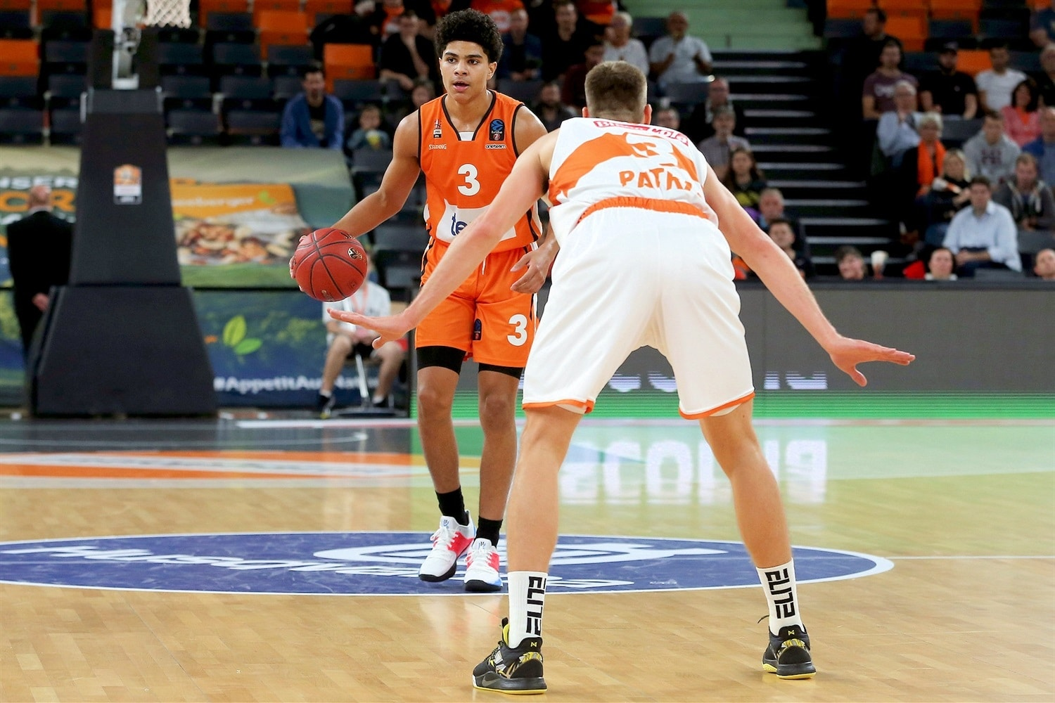 Killian Hayes is a 6-5 guard that plays for Ratiopharm Ulm, and he could be a likely first round pick in 2020.  (Photo: Basket Europe.)
