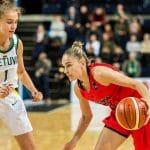 A moins de 14 ans, Juste Jocyte a fait ses débuts avec l'équipe de Lituanie séniors