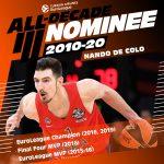 Euroleague: Nando De Colo nominé pour la All-Star Team de la décade
