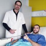 La photo: Opération réussie pour Nicolas De Jong