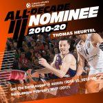 Euroleague: Thomas Heurtel nominé pour être all-star de la décade