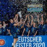L'ALBA Berlin a fêté son titre de champion d'Allemagne dans la sobriété