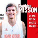 Pro B – Denain: Matthieu Missonier arrive, Pierric Poupet prend sa retraite