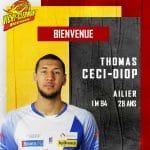 Pro B: Jordan Aboudou reste à Vichy-Clermont, Thomas Ceci-Diop arrive
