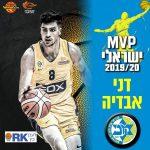 Israël: Denis Avdija élu MVP israélien 2020, Tomer Ginat (Boulogne-Levallois) dans le Cinq all-Stars