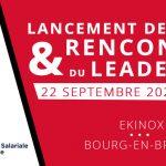 Une date à retenir: 22 septembre, les Rencontres du Leadership à Bourg avec Vincent Collet et Valérie Garnier