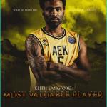 BCL: Une finale AEK Athènes vs Burgos, Keith Langford élu MVP de la saison