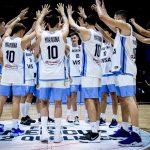 La photo: Les basketteurs argentins sont entrés sur le terrain avec le maillot de Maradona