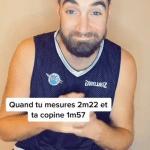 Avec ses 2,22m et sa copine de 1,57m, Vincent Pourchot cartonne sur Tik Tok
