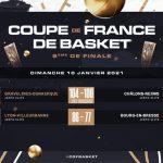 Coupe de France : L'ASVEL et Gravelines derniers qualifiés pour le Top 8