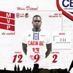N1 : Une 11e victoire de rang pour Caen