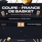 Coupe de France : Limoges qualifié pour les demi-finales