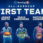 Eurocup : Isaïa Cordinier et Mathias Lessort dans le meilleur cinq de la saison
