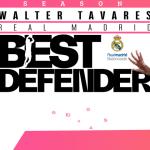 Euroleague : Walter Tavares élu Meilleur Défenseur de la saison