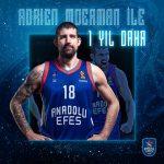 Turquie : Adrien Moerman reste finalement une saison de plus à Anadolu Efes