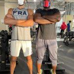 La photo: Rudy Gobert et Teddy Riner, deux géants