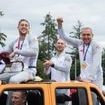 Vidéo: Les champions olympiques de 3×3 accueillis comme des héros nationaux en Lettonie