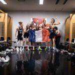 Photos : la joie des Bleues sur le podium et dans les vestiaires