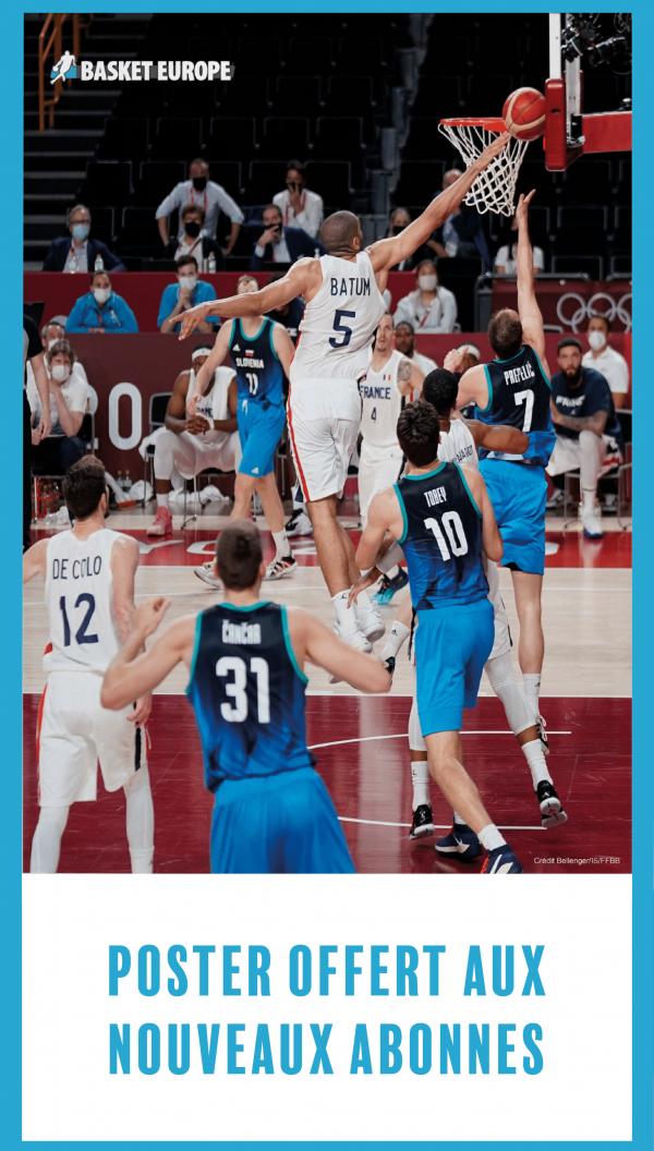 Poster offert aux nouveaux abonnes de basket europe