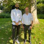 Evan Fournier a rencontré le Ministre Jean-Michel Blanquer à propos du sport à l'école